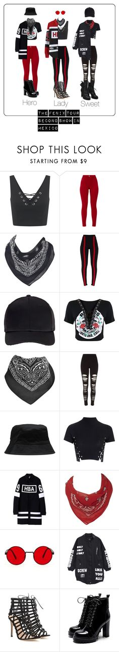 """HotQueen's -  The Fenix ​​Tour - Second show in Mexico"" by junnie-poet ❤ liked on Polyvore featuring Miss Selfridge, Oasis, VFiles, River Island, Dr. Martens, Glamorous, Hood by Air and Gianvito Rossi"