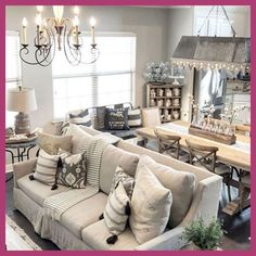 57 Popular Winter Living Room Design For Inspiration. Enjoy a warm and cozy atmosphere in your living room throughout the winter season. Redesign the space and greet the New Year with an inviting and . French Country Rug, French Country Living Room, Living Room Modern, Living Room Designs, Small Living, Farmhouse Style Decorating, French Country Decorating, Farmhouse Decor, Modern Farmhouse