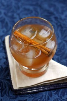Warming spiced rum, is complemented by the comforting fall flavors of spicy cinnamon, sweet, rich maple syrup, and apple cider in this cocktail.