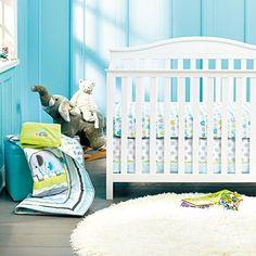 New Baby Safari Elephant 8pcs Crib Bedding Set: 4)bumper1)quilt1)sheet1)fleece blanket1)dust ruffle