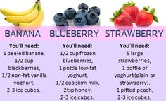 If you prefer fruit smoothies, you can try one of these :) Or all of them!
