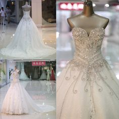 The cheap long wedding dress is fully lined, 4 bones in the bodice, chest pad in the bust, lace up back or zipper back are all available, total 126 colors are available.   This dress could be custom made, there are no extra cost to do custom size and color.    Description of cheap wedding dress  ...