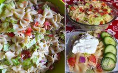 Jednoduchý letní těstovinový salát připravený za 20 minut | NejRecept.cz Rabbit Food, Pasta Salad, Potato Salad, Potatoes, Ethnic Recipes, Food Ideas, Fitness, Decor, Top Recipes