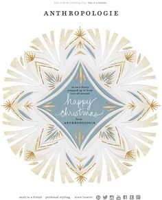 Anthropologie - Christmas card; clicks through to new arrivals