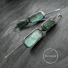 ANCIENT - kolczyki ze szkłem antycznym / formood / Biżuteria / Kolczyki