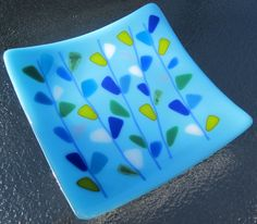 fused glass | simple, colorful design