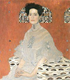 Gustav Klimt - Portrait of Fritza Riedler (detail), 1906 Gustav Klimt, Art Klimt, Art Nouveau, Franz Josef I, Art For Art Sake, Renoir, Oeuvre D'art, Picasso, Painting & Drawing