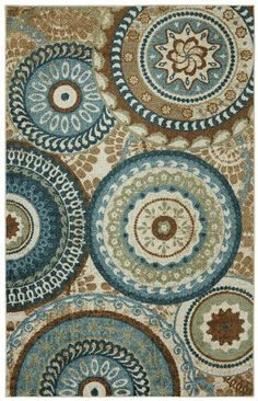 This classic color pairing of blue and brown is updated with a vibrant teal shad and a trendy medallion pattern. Printed on the same machines that ...