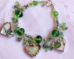 Broken China Jewelry China Heart Bracelet by Robinsnestcreation1, $76.95