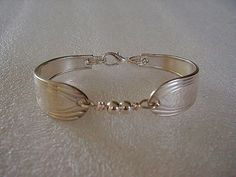 Spoon Bracelet Recycled Silver Spoons Sterling by LTCreatesJewelry, $27.00