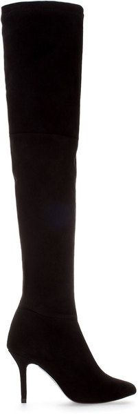 High Heel Suede over the knee Boot - by Lyst and sold in Zara. Want!