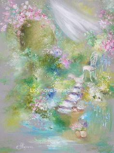 Картины цветов ручной работы. Ярмарка Мастеров - ручная работа. Купить Мой маленький садик. Handmade. Картина утро, цветение