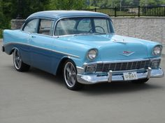 1956 Chevy Bel Air (we started with a 1955 chevy bel air just like this)