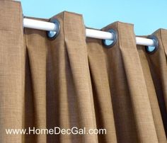Box pleated grommet drapery designed and created by Susan Woodcock… Curtains And Draperies, Drapery Panels, Window Curtains, Valances, Grommet Curtains, Pleated Curtains, Burlap Curtains, Window Seats, Curtain Inspiration