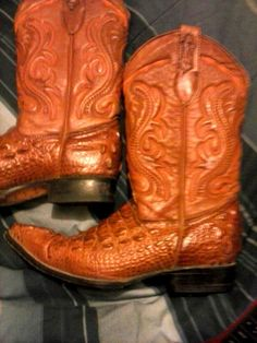 Vintage Arriero Alligator Boots Size 8 1/2 US  27 1/2 Mexico--ON SALE NOW! #CowboyWestern