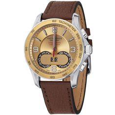 Swiss Army Men's 241617 'Chrono Classic' Dial Brown Strap Quartz Watch