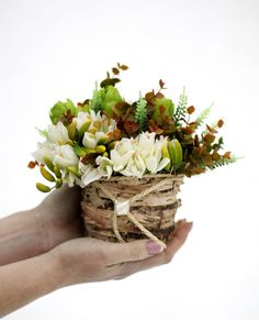 Wedding Table BouquetFloral Table by AlookFlowers on Etsy