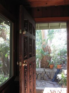 Carved wooden door, Joni Mitchell's House