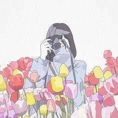 No photo description available. Art Anime, Anime Art Girl, Girly Drawings, Cartoon Drawings, Aesthetic Anime, Aesthetic Art, Kawaii Art, Cute Illustration, Cute Wallpapers