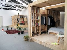 Wooden sleeping pods by Sibling
