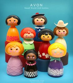 Avon Small World Doll bottles 1970's    Cheyanne needs these dolls so she will forget about that blasted DUCK!!!
