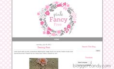 Pink Fancy Free - Cute free blogger template from bloggercandy.com