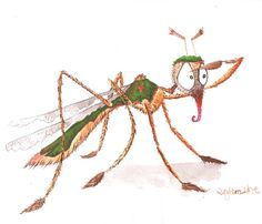 Comic Illustration Mücke Lona Azur Itchy Mosquito Bites, Illustration, Bugs, Monsters, Campaign, Pencil, Sketch, Clip Art, Wallpapers