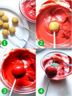 Bird's Party Blog: CAKE IT PRETTY: DIY Apple Cake Pops + Centerpiece Display