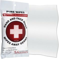 Pure 36 First Aid Disinfecting Wipes For Hands and Face by Pure. $5.89. Pure disinfecting wipes are ideal for cleaning and disinfecting against both the seasonal flu and h1n1 (commonly referred to as the swine flu). use them to clean your hands and face when water and soap are unavailable. these germ killing wipes are great for use at home or on the road.