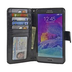 Samsung Galaxy Note 4 Folio PU Leather Wallet Case with Screen Protector - Navor (Black), http://www.amazon.ca/dp/B00MW5A78G/ref=cm_sw_r_pi_awdl_K.nVvb0M584VY