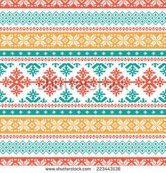 Traditional knitted background - stock vector