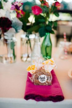 Fudge Favors via Johsi & Jamie's Eclectic Hinterland Wedding on The LANE. Styling Karissa Fanning / The LANE Event Styling. (PS follow us on instagram: the_lane)
