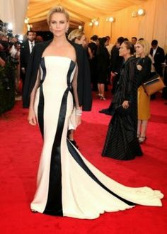 Spotted actresses Charlize Theron and Marion Cotillard at the Met Gala, one of the most exclusive fund raising and social event of the New Y...