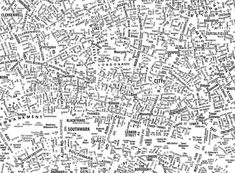 Typographic map of London (detail) by NB: Studio