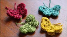 Lovely Crocheted Butterflies [FREE Crochet Pattern]