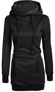9240ce5048a55 Pandapang Women's Casual Hoodie Fleece Kangaroo Pocket Pullovers Sweatshirt  Sweat Shirt, Sweater Hoodie, Long