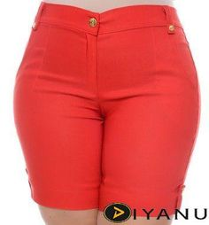 Bermuda Plus Size Sabrine at Diyanu Plus Size Womens Clothing, Plus Size Fashion, Clothes For Women, Plus Size Dresses, Plus Size Outfits, Plus Size Ripped Jeans, Latest African Fashion Dresses, Sexy Shorts, Retro Dress