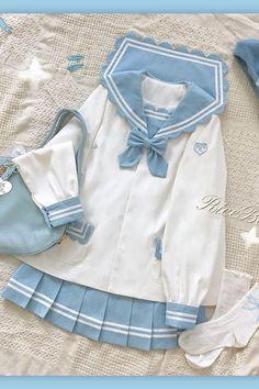 Harajuku Fashion, Kawaii Fashion, Lolita Fashion, Cute Fashion, Fashion Outfits, Sailor Fashion, Pastel Fashion, Fashion Styles, Kawaii Dress