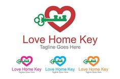 Love Home Key - Logo Template by SpeedBlessing on @creativemarket