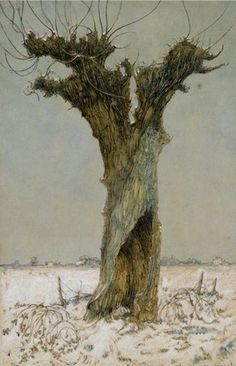 Dik Ket (Dutch, 1902-1940), Willow in the Snow, circa 1927-1928, oil on paper, private collection