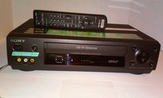 Sony SLV-N500 4 Head Hi-Fi Stereo VHS VCR with Remote Tested Works Great #Sony