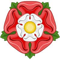 The Tudor Rose combines the white rose of York with the red rose of Lancaster, representing the reunification of the two Plantagenet houses in the marriage of Elizabeth of York to Henry (Lancaster) Tudor.