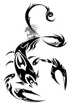 Tribal Zodiac VIII Scorpion Tattoo Design - Tattoes Idea 2015 / 2016