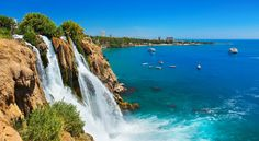 Photo about Waterfall Duden at Antalya, Turkey - nature travel background. Image of park, falling, nature - 22854541 Turkey Tourism, Turkey Travel, Turkey Destinations, Travel Destinations, Turkey Tourist Attractions, Dubai Attractions, Dubai Tour, Station Balnéaire, Cheap Holiday