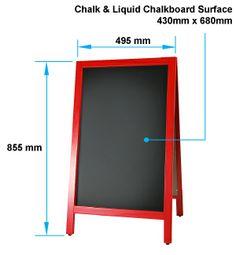 A-Frame Signs - Chalk & Liquid Chalk Board Doubled Sided