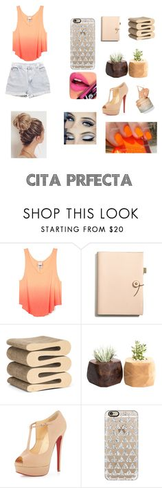 """Sin título #48"" by georgina2005 on Polyvore featuring Belleza, Coach, Vitra, Levi's, Christian Louboutin, Casetify y Fiebiger"