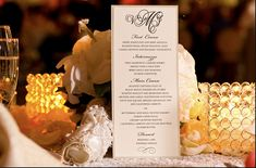 MENU - Silver or Gold Double Layer Party Menu  by KnotJustWeddings, $2.00
