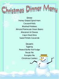 christmas menu idea this is one of the more simple ones right up my alley - Simple Christmas Menu