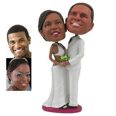 Personalized Cake Topper - Beach Wedding Couple