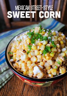 Mexican Street-Style Sweet Corn..... did not like it.  The feta completely took away the wonderful sweetness of corn.  It would probably taste okay without the feta